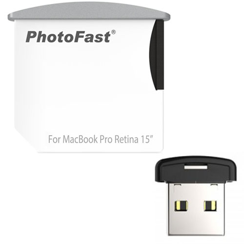 Картридер PhotoFast Memory Expansion Combo Kit дл MacBook Pro Retina 15 от 2014 г. SD + USBФлешки<br>Картридер PhotoFast CR-8700 дл MacBook Pro Retina 152013-14г<br><br>Материал: Пластик
