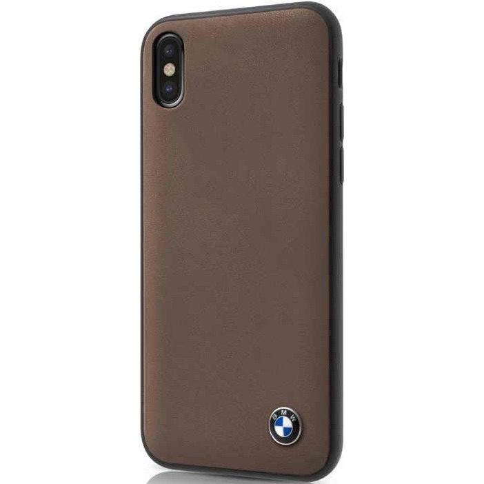 Чехол BMW Signature Genuine Leather Hard для iPhone X коричневый MoccaЧехлы для iPhone X<br>Чехол имеет непринуждённый дизайн, который будет уместен в любой обстановке.<br><br>Цвет: Коричневый<br>Материал: Натуральная кожа, микрофибра, поликарбонат