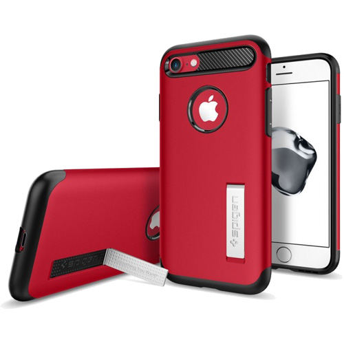 Чехол Spigen Slim Armor для iPhone 7 (Айфон 7) красный (SGP-042CS21519)Чехлы для iPhone 7<br>Spigen Slim Armor — это тончайшая двухслойная защита для вашего iPhone.<br><br>Цвет товара: Красный<br>Материал: Поликарбонат, полиуретан