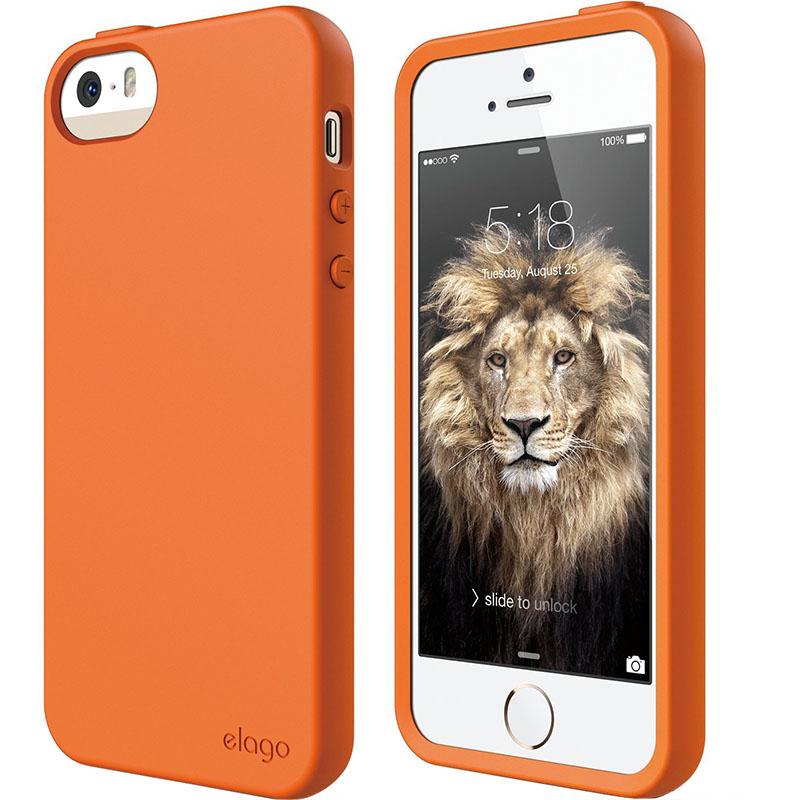 Чехол Elago Flex Hard TPU для iPhone 5S/SE оранжевыйЧехлы для iPhone 5/5S/SE<br>Elago Flex Hard TPU станет настоящим украшением вашего iPhone!<br><br>Цвет: Оранжевый<br>Материал: Полиуретан