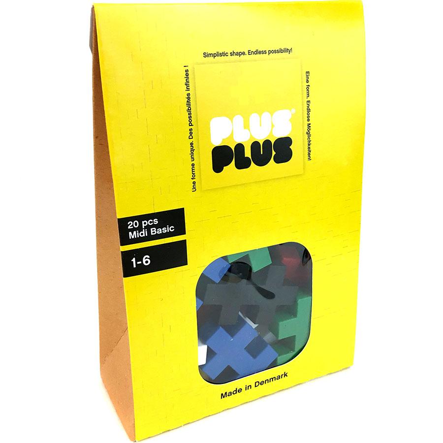 Конструктор Plus-Plus Midi 20 Basic (MD20BASIC)3D пазлы и конструкторы<br>Уникальный конструктор, развивающий фантазию и моторные навыки детей!<br><br>Цвет товара: Разноцветный<br>Материал: Пластик