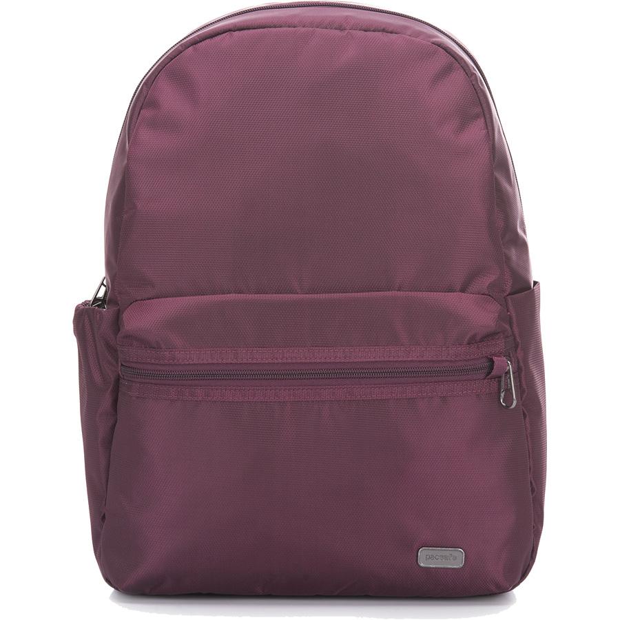 Рюкзак Pacsafe Daysafe Anti-Theft Backpack бордовый BlackberryРюкзаки<br>Рюкзаки PacSafe созданы не только для покорения городских джунглей, но и для безопасного покорения мира!<br><br>Цвет товара: Красный<br>Материал: 200D полиэстер Dobby, полиуретан (600 мм); подклада: 75D полиэстер Herringbone Dobby, полиуретан (1000 мм)