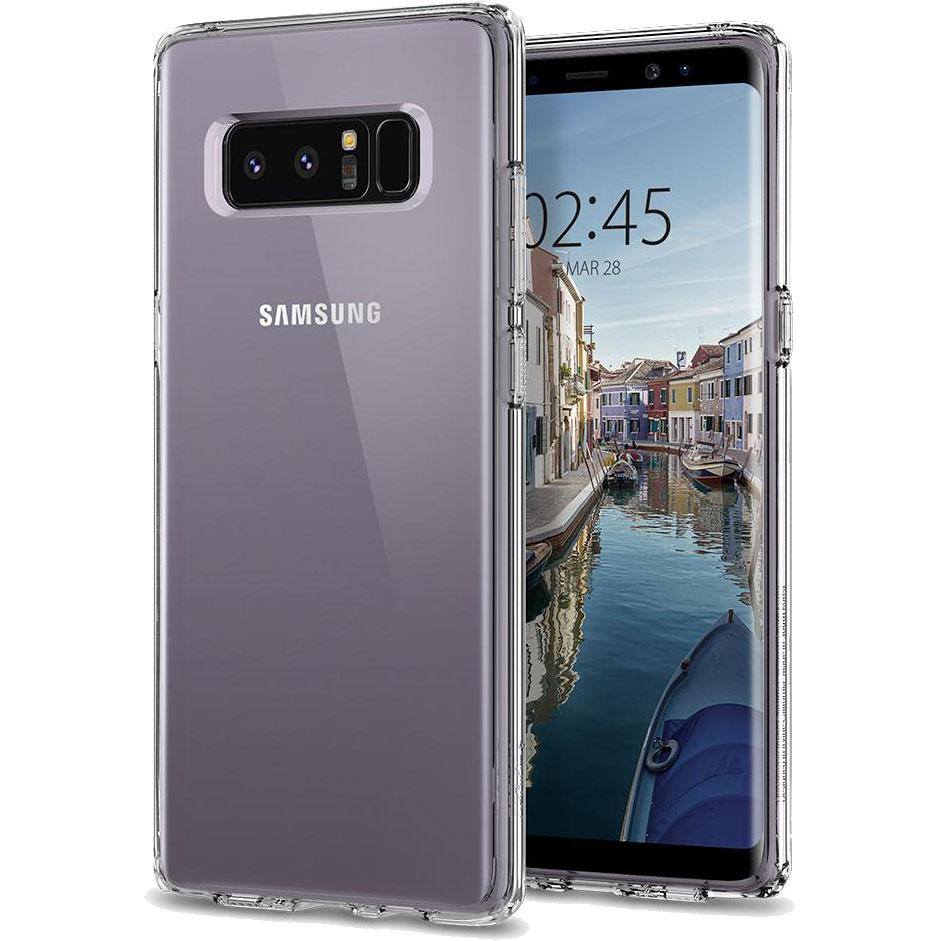 Чехол Spigen Case Ultra Hybrid для Samsung Galaxy Note 8 кристально-прозрачный (587CS22063)Чехлы для Samsung Galaxy Note<br>Гибридные технологии на страже от неприятностей для Samsung Galaxy Note 8.<br><br>Цвет товара: Прозрачный<br>Материал: Поликарбонат, термопластичный полиуретан
