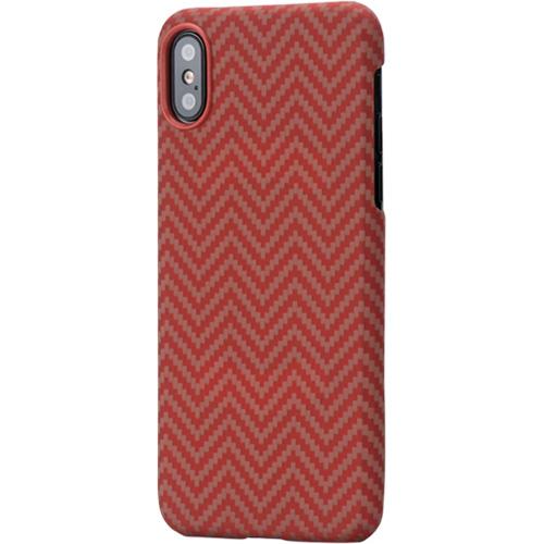 Чехол PITAKA MagCase для iPhone X красный карбонЧехлы для iPhone X<br>PITAKA MagCase для iPhone X - тонкий, элегантный прочный. В комплекте идет стекло на экран.<br><br>Цвет товара: Красный<br>Материал: Арамид<br>Модификация: iPhone 5.8