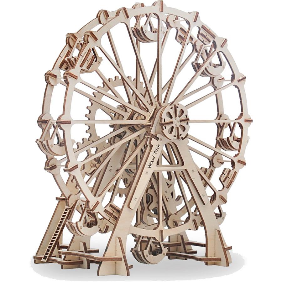 3D-конструктор из дерева Wood Trick Колесо обозрения3D пазлы и конструкторы<br>Сувениры Wood Trick — это механические 3D-модели, которые собираются без клея и понятны даже ребенку.<br><br>Цвет товара: Бежевый<br>Материал: Натуральное дерево (фанера)