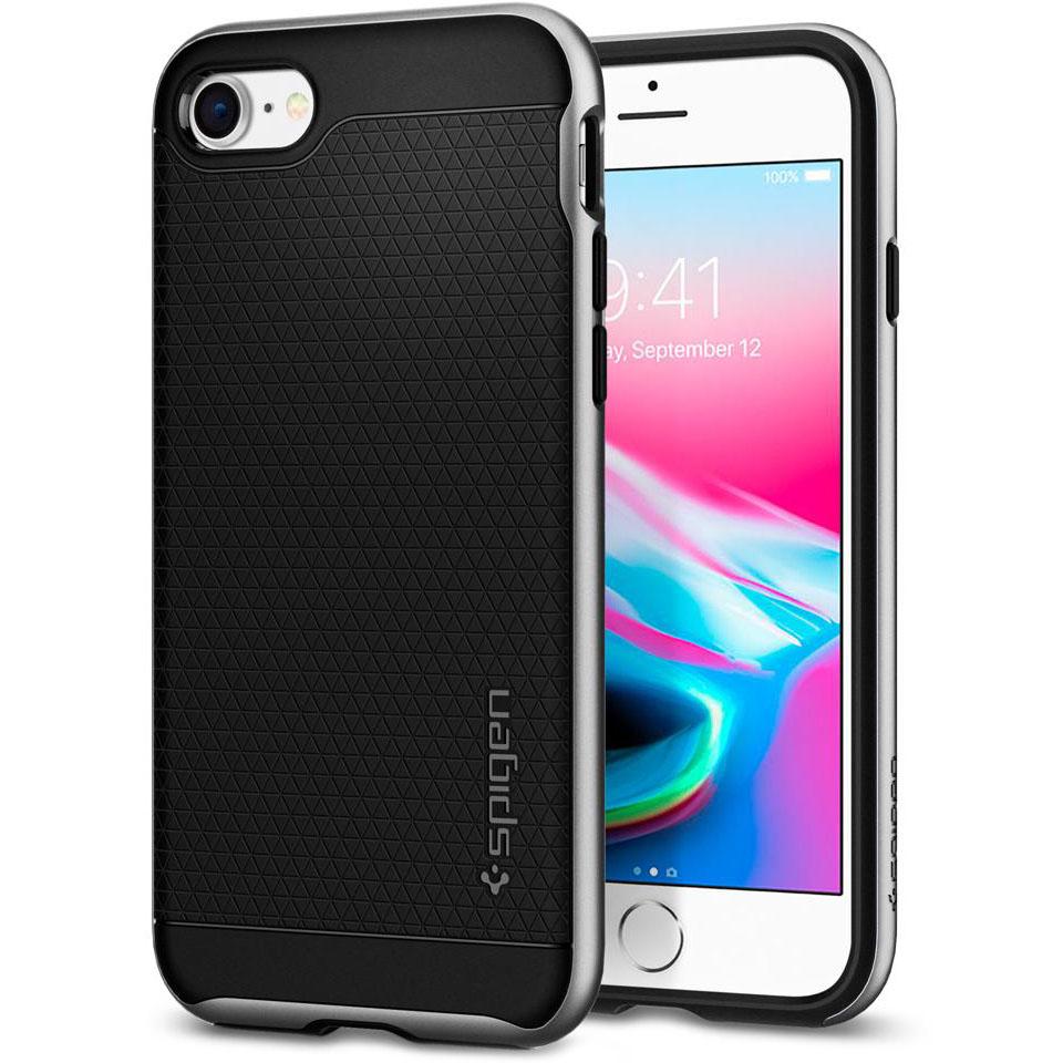 Чехол Spigen Neo Hybrid 2 для iPhone 7, iPhone 8 серебристый (054CS22359)Чехлы для iPhone 7<br>Spigen Neo Hybrid 2 двухслойный чехол, который обеспечивает полную защиту вашего смартфона.<br><br>Цвет товара: Серебристый<br>Материал: Поликарбонат, полиуретан
