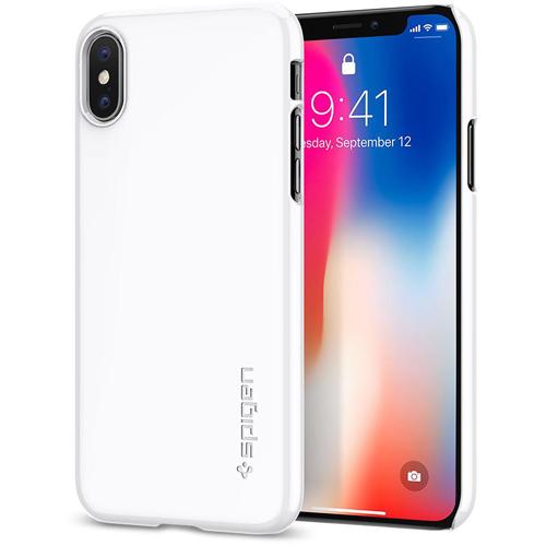 Чехол Spigen Thin Fit для iPhone X ультрабелый (057CS22112)Чехлы для iPhone X<br>Spigen Thin Fit — это чехол с лёгким и свежим дизайном, который создан специально для iPhone X!<br><br>Цвет товара: Белый<br>Материал: Поликарбонат