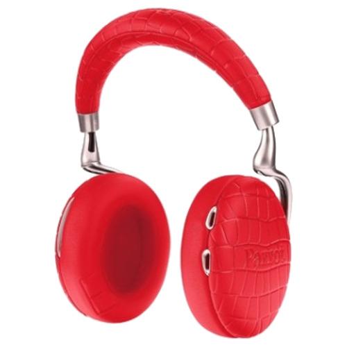 Беспроводные наушники Parrot Zik 3.0 CROCO красного цветаПолноразмерные наушники<br>Parrot Zik 3.0 — современные и привлекательные наушники ваших для iPhone / iPod / iPad / Android.<br><br>Цвет товара: Красный<br>Материал: Натуральная кожа, металл, пластик