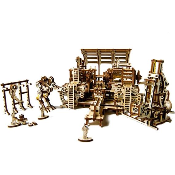 3D-пазл Ugears Фабрика роботов3D пазлы и конструкторы<br>3D-пазлы от компании UGears — это модели удивительной красоты и функциональности.<br><br>Цвет товара: Бежевый<br>Материал: фанера (ФК)