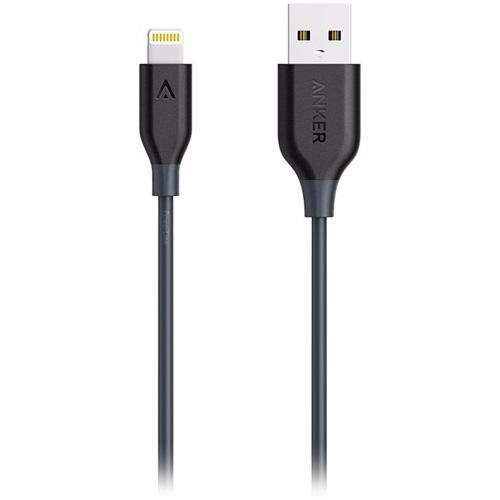 Кабель Anker PowerLine (0.9 метра) USB to Lightning (A8111H11) серыйКабели Lightning<br>Невероятно прочный и быстрый кабель Anker PowerLine для подключения и синхронизации устройств Apple с Lightning разъемом.<br><br>Цвет товара: Серый<br>Материал: Пластик, силикон, пара-арамидное волокно