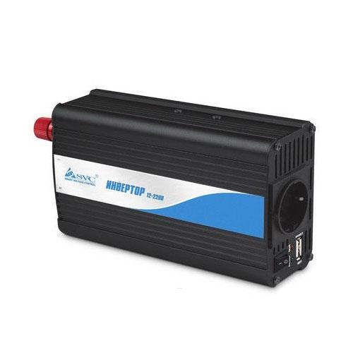 Инвертор SVC BI-500 чёрныйБесперебойники<br>Инвертор SVC BI-500 - 220В - черный<br><br>Цвет товара: Чёрный<br>Материал: Металл, пластик