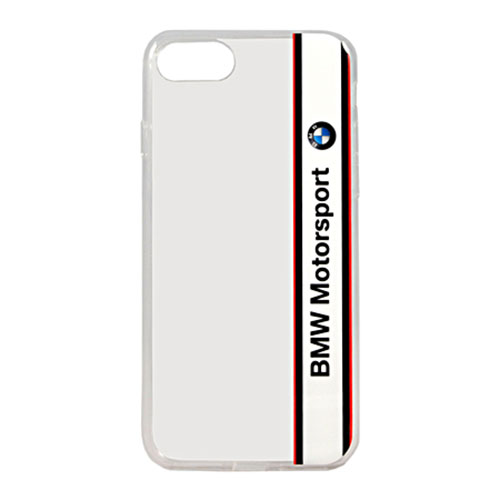 Чехол BMW Motorsport Transparent Hard PC для iPhone 7 белый