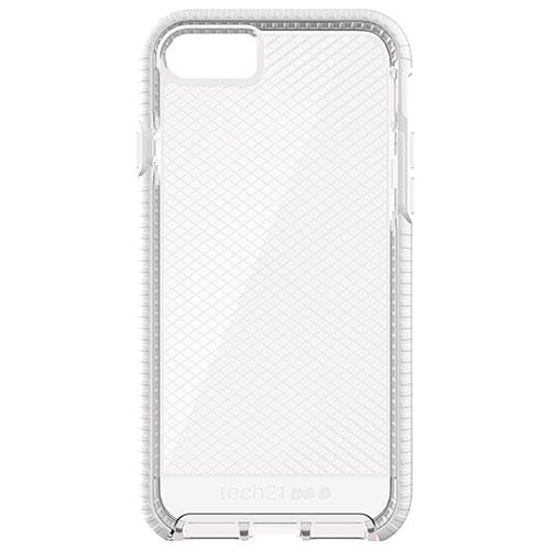 Чехол Tech21 Evo Check Case для iPhone 7 прозрачный/белыйЧехлы для iPhone 7<br>Tech21 Evo Check Case - супертонкий и суперлегкий чехол, который не боится никаких повреждений, в том числе ударов и падений.<br><br>Цвет товара: Прозрачный