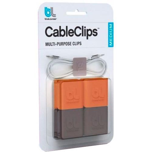 Организатор проводов Bluelounge CableClip Medium средний (4 штуки)Органайзеры проводов и гаджетов<br>С организатором проводов Bluelounge CableClip теперь вам не придется тратить время на распутывание клубков с проводами.<br><br>Цвет товара: Разноцветный<br>Материал: Пластик