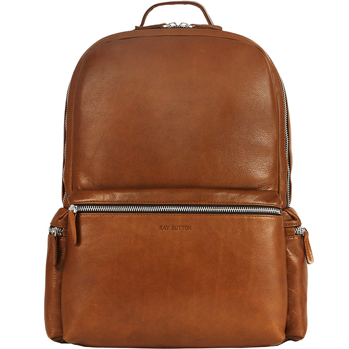 Рюкзак Ray Button San Marino для MacBook 13 коричневый (700C5)Рюкзаки<br>Рюкзак Ray Button San Marino — вместительный рюкзак городской серии.<br><br>Цвет товара: Коричневый<br>Материал: Натуральная кожа, текстиль, металл
