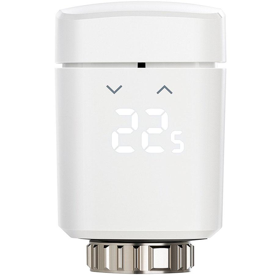 Термостат Elgato Eve Thermo 2017 для регулирования температуры комнатных радиаторовКлиматическая техника для дома<br>С Elgato Eve Thermo 2017 контролировать температуру в помещении проще, чем когда-либо!<br><br>Цвет товара: Белый<br>Материал: Пластик, металл