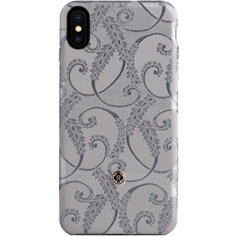 Чехол Revested Silk Collection для iPhone X Silver of FlorenceЧехлы для iPhone X<br>Премиум-чехлы от лучших мастеров из Италии!<br><br>Цвет товара: Серебристый<br>Материал: Шёлк, поликарбонат
