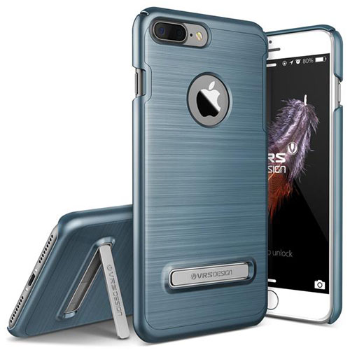 Чехол Verus Simpli Lite для iPhone 7 Plus (Айфон 7 Плюс) синий (VRIP7P-SPLBB)Чехлы для iPhone 7 Plus<br>Чехол Verus для iPhone 7 Plus Simpli Lite, стальной голубой(904659)<br><br>Цвет товара: Синий<br>Материал: Поликарбонат, полиуретан