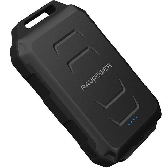 Внешний аккумулятор RAVPower Waterproof на 10050 мАч (RP-PB044) чёрныйДополнительные и внешние аккумуляторы<br>Компактный, мощный и невероятно надёжный внешний аккумулятор!<br><br>Цвет товара: Чёрный<br>Материал: Пластик