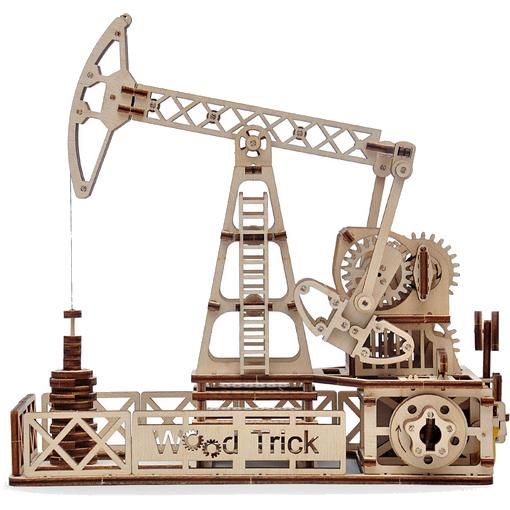 3D-конструктор из дерева Wood Trick Нефтяная вышка3D пазлы и конструкторы<br>Сувениры Wood Trick — это механические 3D-модели, которые собираются без клея и понятны даже ребенку.<br><br>Цвет: Бежевый<br>Материал: Натуральное дерево (фанера)