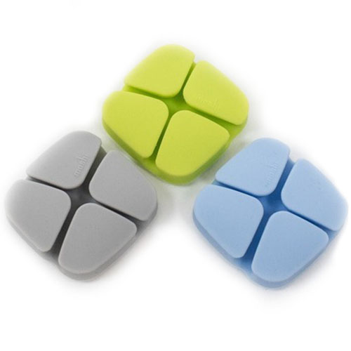 Организатор проводов Moshi Geckoclip голубой / зелёный / серыйОрганайзеры проводов и гаджетов<br>Moshi Geckoclip - это компактный организатор проводов.<br><br>Цвет: Разноцветный<br>Материал: Силикон