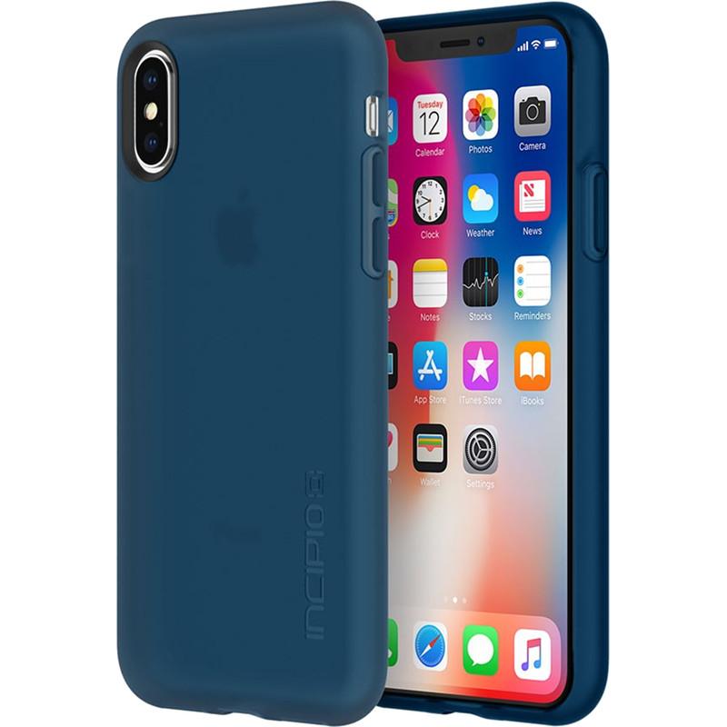 Чехол Incipio NGP для iPhone X тёмно-синийЧехлы для iPhone X<br>Чехол изготовлен из гибкого, абсорбирующего материала Flex2O™ с шелковистой поверхностью.<br><br>Цвет: Синий<br>Материал: Термопластичный полиуретан