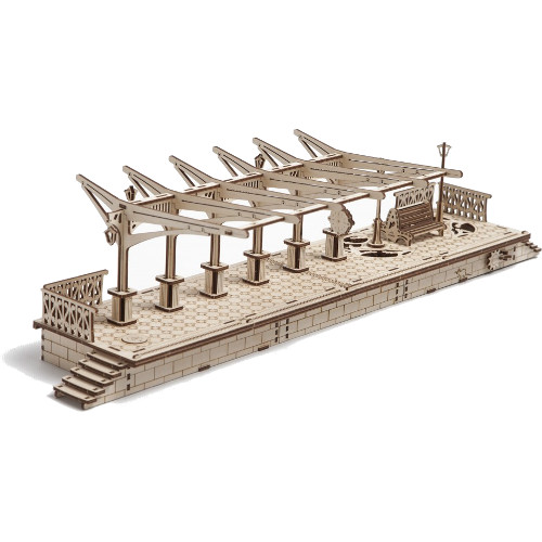 3D-пазл UGears Перрон (Railway Platform)uGears<br>3D-пазл UGears Перрон (Railway platform)<br><br>Цвет товара: Бежевый<br>Материал: фанера (ФК)