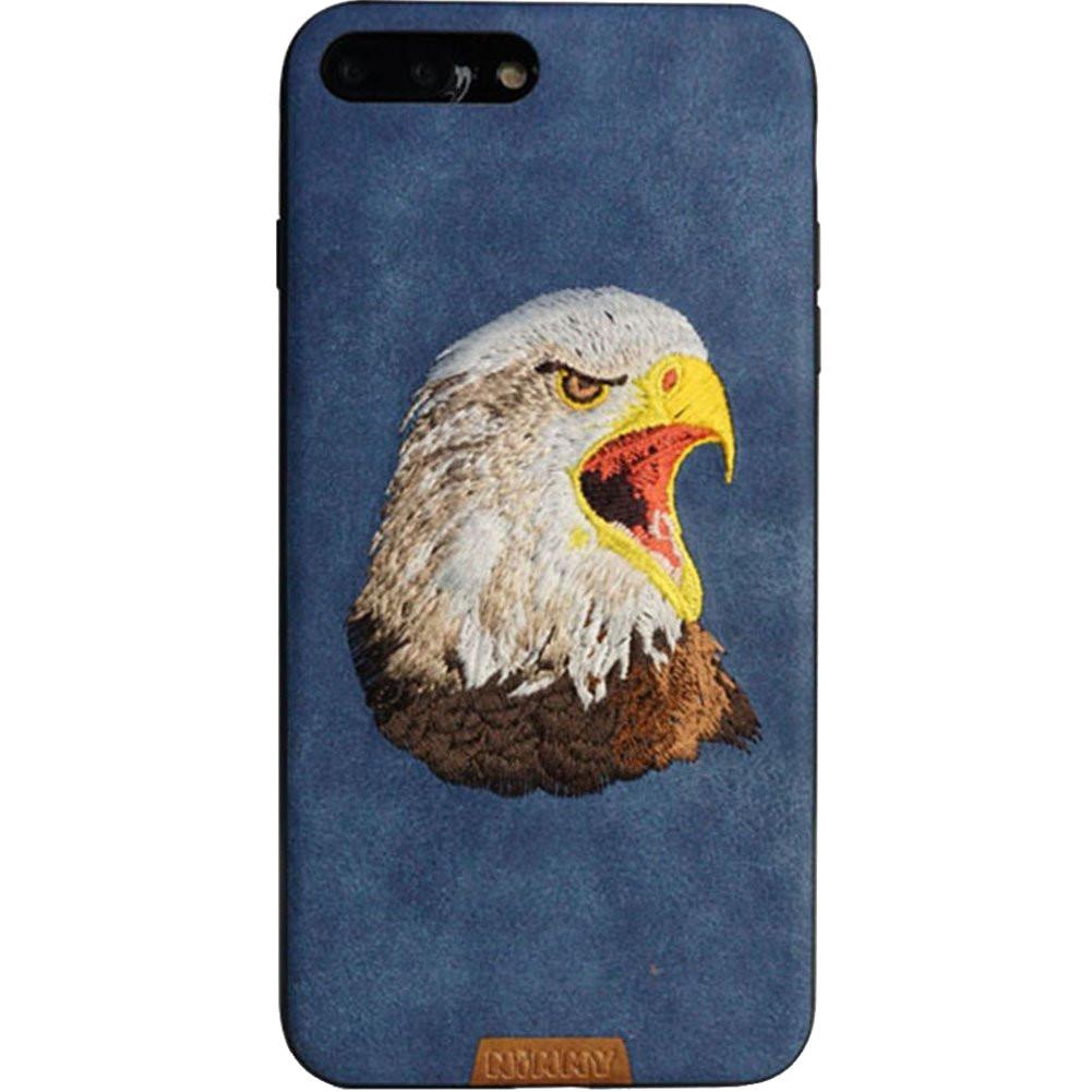 Чехол Nimmy Animal Denim для iPhone 7 Plus / 8 Plus (Орёл) синийЧехлы для iPhone 7 Plus<br>Чехол для iPhone 7 Plus Nimmy Animal стиль 9<br><br>Цвет: Синий<br>Материал: Пластик, силикон, текстиль