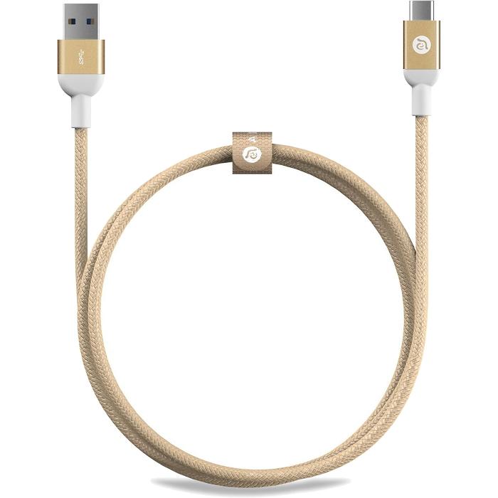 Кабель ADAM elements CASA M100 USB Type-C to USB (1 метр) золотойКабели Type-C и другие<br>Многослойное экранирование кабеля ADAM elements CASA M100 способствует минимизации искажений, электромагнитных или радиочастотных помех.<br><br>Цвет товара: Золотой<br>Материал: Алюминий, пластик, нейлон