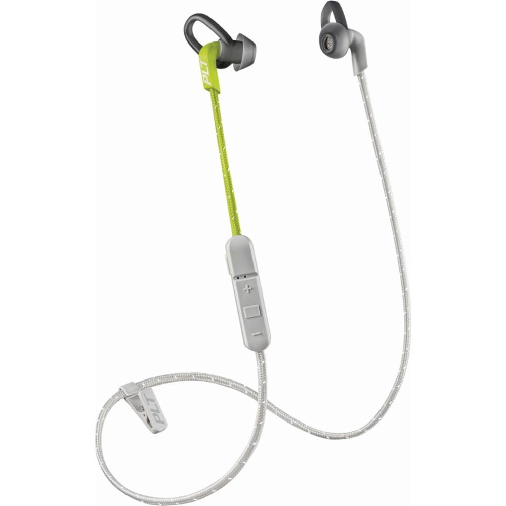 Наушники Plantronics BackBeat Fit 305 Sport зелёныеВнутриканальные наушники<br>Наушники Plantronics BackBeat Fit 305 не боятся пота и влаги, а значит вы сможете слушать вдохновляющие треки даже во время усиленных тренировок.<br><br>Цвет товара: Зелёный<br>Материал: Пластик, нанопокрытие P2i, текстиль