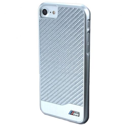 Чехол BMW M-Collection Aluminium & Carbon Hard для iPhone 7 (Айфон 7) серебристый