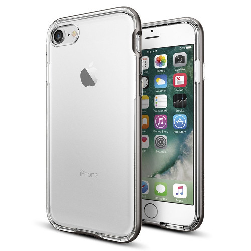 Чехол Spigen Neo Hybrid Crystal для iPhone 7 (Айфон 7) тёмный металлик (SGP-042CS20522)Чехлы для iPhone 7<br>Чехол Spigen Neo Hybrid Crystal для iPhone 7 (Айфон 7) тёмный металлик (SGP-042CS20522)<br><br>Цвет товара: Серый<br>Материал: Поликарбонат, полиуретан