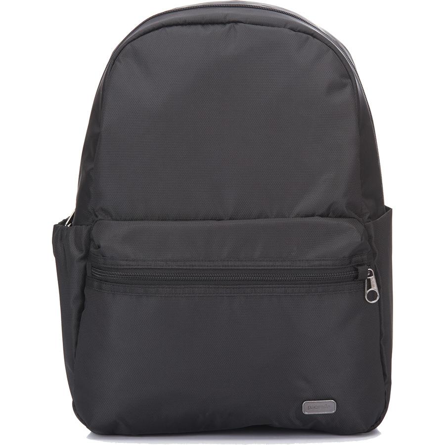 Рюкзак Pacsafe Daysafe Anti-Theft Backpack чёрныйРюкзаки<br>Рюкзаки PacSafe созданы не только для покорения городских джунглей, но и для безопасного покорения мира!<br><br>Цвет товара: Чёрный<br>Материал: 200D полиэстер Dobby, полиуретан (600 мм); подклада: 75D полиэстер Herringbone Dobby, полиуретан (1000 мм)