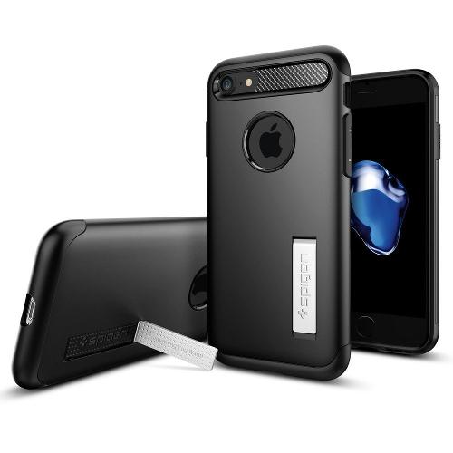 Чехол Spigen Slim Armor для iPhone 7 (Айфон 7) чёрный (SGP-042CS20647)Чехлы для iPhone 7<br>Spigen Slim Armor — это тончайшая двухслойная защита для вашего Айфон.<br><br>Цвет товара: Чёрный<br>Материал: Поликарбонат, полиуретан