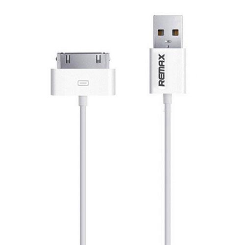 Кабель Remax 30-Pin (1,2 метра) для iPhone/iPad белыйКабели Apple 30-pin<br>USB-кабель Remax 30-pin для iPhone/iPad белый<br><br>Цвет товара: Белый