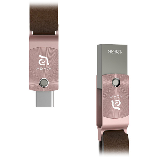 Флеш-накопитель ADAM elements ROMA 128GB USB Type-C OTG розовое золотоФлешки для смартфонов<br>ADAM elements ROMA — компактный и стильный флеш-накопитель с двойным интерфейсом: USB Type-C и USB 3.1 Type-A<br><br>Цвет товара: Розовое золото<br>Материал: Сплав цинка, алюминий, натуральная кожа<br>Модификация: 128 Гб