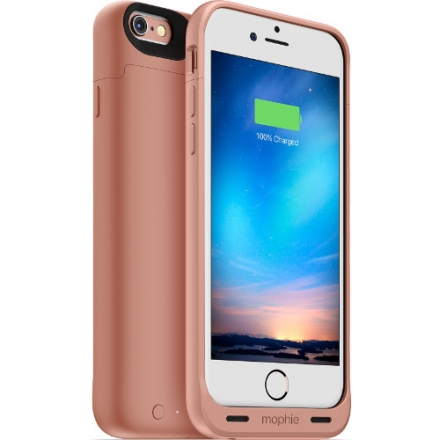 Чехол-аккумулятор Mophie Juice Pack Reserve на 1840 мАч для iPhone 6/6s розовое золотоЧехлы для iPhone 6/6s<br>Mophie Juice Reserve 1840mAh 60% Rose Gold для iPhone 6<br><br>Цвет товара: Розовое золото<br>Материал: Пластик