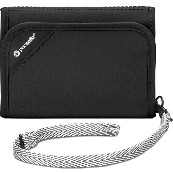 Кошелёк PacSafe RFIDsafe V125 чёрныйКошельки и портмоне<br>PacSafe RFIDsafe V125 поможет защитить деньги на кредитной карте от кражи.<br><br>Цвет товара: Чёрный<br>Материал: Текстиль, ткань RFIDsafe
