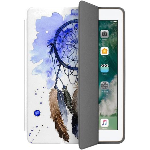 Чехол Muse Smart Case для iPad 9.7 Ловец СновЧехлы для iPad 9.7<br>Чехлы Muse — это индивидуальность, насыщенность красок, ультрасовременные принты и надёжность.<br><br>Цвет: Белый<br>Материал: Поликарбонат, полиуретановая кожа