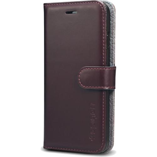 Чехол Spigen Valentinus для iPhone 7 (Айфон 7) темно-коричневый (SGP-042CS20980)Чехлы для iPhone 7<br><br><br>Цвет товара: Коричневый<br>Материал: Поликарбонат, полиуретановая кожа