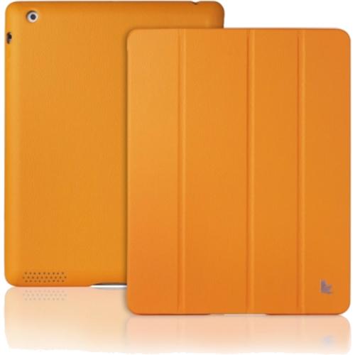 Кожаный чехол Jison Executive Smart Cover для iPad 2 / 3 / Air оранжевыйЧехлы для iPad 1/2/3/4<br>Чехол Jison Executive Smart Cover  - это чистые линии и высокая функциональность, простота и технологичность, элегантность и универсальный дизайн.<br><br>Цвет товара: Оранжевый<br>Материал: Натуральная кожа, поликарбонат