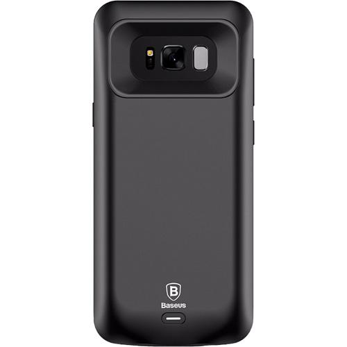 Чехол-аккумулятор Baseus Geshion Backpack Power Bank 5500 mAh для Samsung Galaxy S8 Plus чёрныйЧехлы для Samsung Galaxy S8/S8 Plus<br>Тонкий и легкий чехол от Baseus обеспечит ваш Samsung Galaxy S8 Plus 100% защитой и энергией!<br><br>Цвет товара: Чёрный<br>Материал: Поликарбонат, термополиуретан