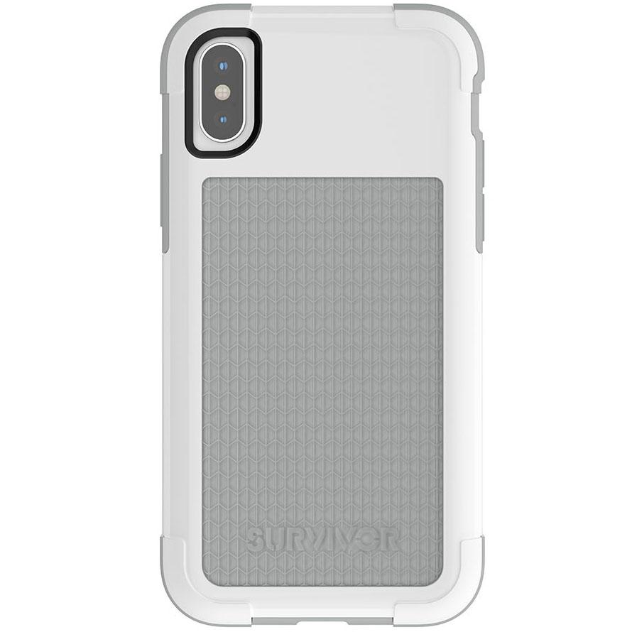 Чехол Griffin Survivor Fit для iPhone X белый/серыйЧехлы для iPhone X<br>Survivor Fit — это многослойный чехол нового поколения!<br><br>Цвет: Белый<br>Материал: Поликарбонат, полиуретан<br>Модификация: iPhone 5.8