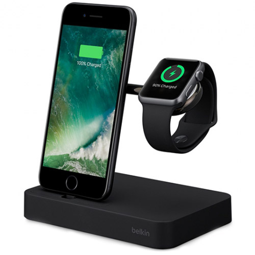 Док-станция Belkin Valet Charge Dock для Apple Watch + iPhone чёрнаяДокстанции Apple Watch<br>Док-станция отлично будет сочетаться с техникой Apple на рабочем столе.<br><br>Цвет товара: Чёрный