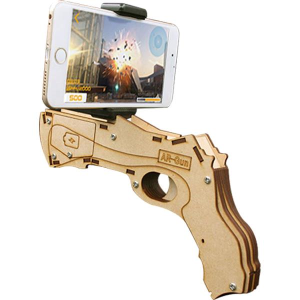 Пистолет для виртуальной реальности Dreamlock AR-Gun деревянныйИгрушки управляемые смартфоном<br>Пистолет Dreamlock AR-Gun — яркая новинка в мире виртуальных и дополненных технологий.<br><br>Цвет товара: Коричневый<br>Материал: Фанера