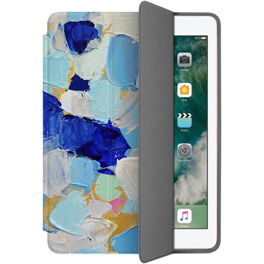 Чехол Muse Smart Case для iPad 9.7 Мазки 1Чехлы для iPad 9.7<br>Чехлы Muse — это индивидуальность, насыщенность красок, ультрасовременные принты и надёжность.<br><br>Цвет: Синий<br>Материал: Поликарбонат, полиуретановая кожа