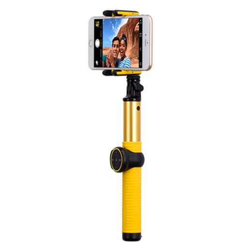 Комплект Momax Selfie Hero 2 в 1 (монопод + трипод) 100 см (KMS7) жёлтыйМоноподы<br>Momax Selfi Hero 2 in 1 (монопод + трипод ) 100см KMS7 золотой<br><br>Цвет товара: Жёлтый<br>Материал: Пластик, металл