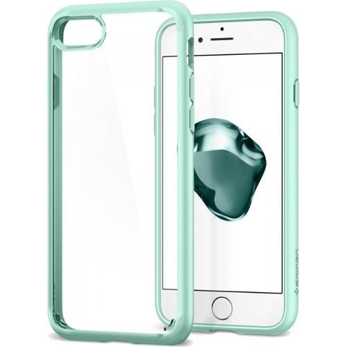 Чехол Spigen Ultra Hybrid 2 для iPhone 7 (Айфон 7) мятный (SGP-042CS20925)Чехлы для iPhone 7<br>Чехол Spigen Ultra Hybrid 2 — это идеальный чехол для тех, кто ценит лаконичный дизайн и максимальную защиту смартфона.<br><br>Цвет товара: Мятный<br>Материал: Термопластичный полиуретан, поликарбонат