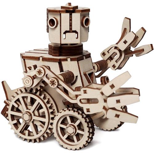 Конструктор 3D Lemmo деревянный Робот «Макс»3D пазлы, конструкторы, головоломки<br>Модели Lemmo — это безопасные и экологически чистые конструкторы.<br><br>Цвет товара: Бежевый<br>Материал: Натуральное дерево