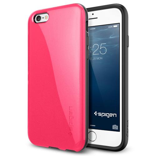 Чехол Spigen Capella для iPhone 6/6s Plus ярко-розовый SGP11184Чехлы для iPhone 6s PLUS<br>Чехол Spigen для iPhone 6+ Capella ярко-розов SGP11184<br><br>Цвет товара: Розовый<br>Материал: Пластик